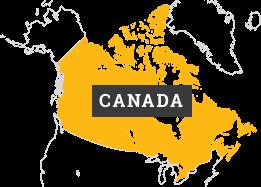 図:カナダの地図