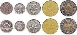カナダのコイン サンプル