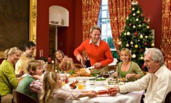 Pulling Crackers with family