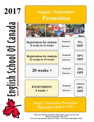 August and September Promotion