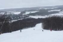 中級コース頂上からの眺め