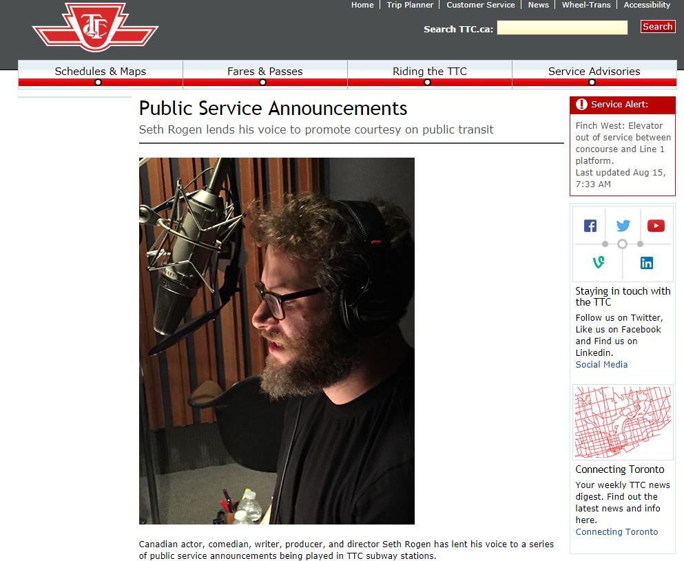 TTC Public Service Announcements